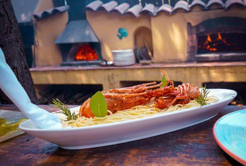 Spaghettis aux langoustes